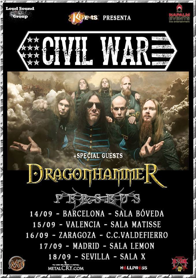 dragonhammer- persues spain tour 2016